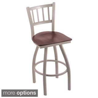 Steel Frame and Oak Bar Stool