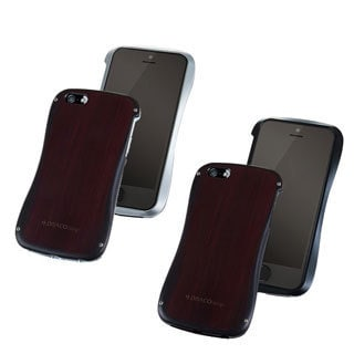 Draco High Impact Snap on Allure Wood Aluminum Case Cover for Apple iPhone 5/ 5S