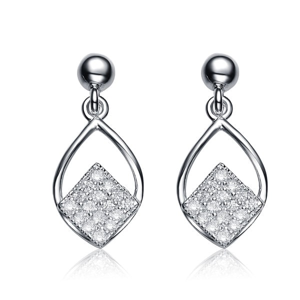 Collette Z Sterling Silver Cubic Zirconia Pear Shape Drop Earrings
