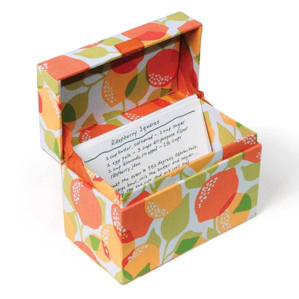 Kitchen Cucina Citrus Recipe Box