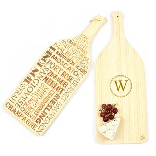 Personalized Reversible Wine Bamboo Serving Board