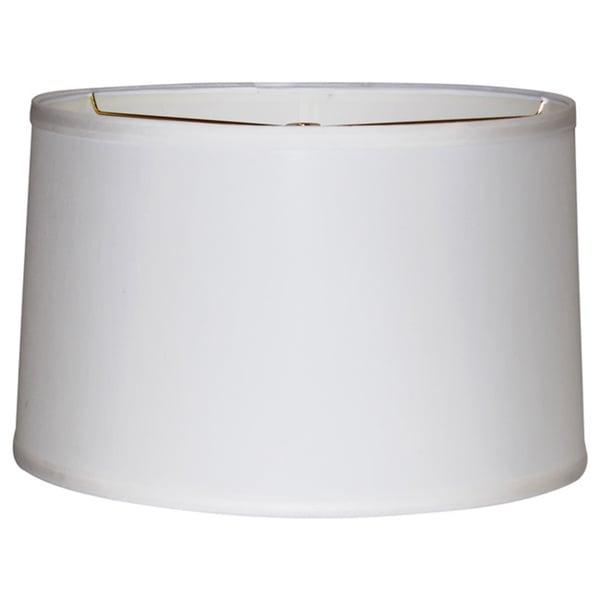 Off-white Linen Wide-width Drum Shade