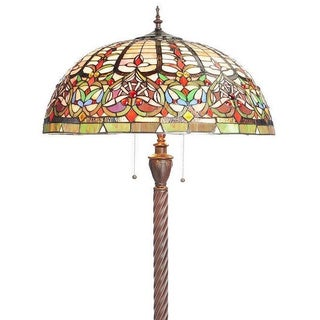 Watusi 3-light Bronze Art Glass Floor Lamp