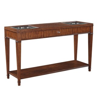 Emerald Contemporary Sofa Table with Drawer