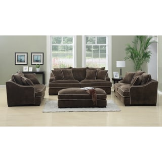Emerald Caresse Mocha 4-piece Livingroom Set