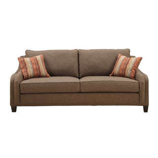 Emerald Cocoa Brown Chenille-feel Tweed Sofa