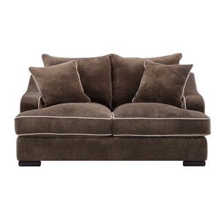 Emerald Caresse Mocha Down Filled Loveseat