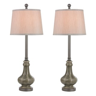 Dimond Sailsbury 1-light LED Georgia Grey Glazed Finish Table Lamp (Set of 2)