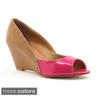 FFC New York Women's 'Mona' Two-tone Wedges