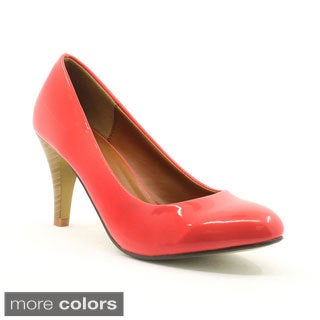 FFC New York Women's 'Donna' Patent Almond-toe Pumps