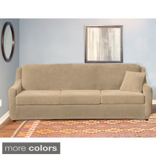 Sure Fit Stretch Pearson 3 Cushion Sleeper Sofa Slipcover