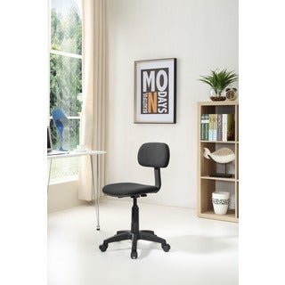 Black Mid-size Back Armless Rolling Task Chair