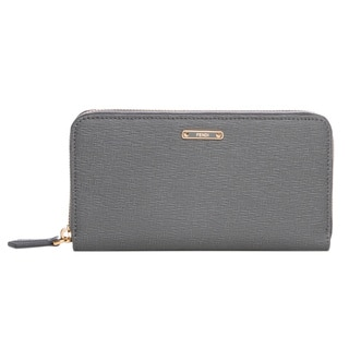 Fendi 'Crayons' Grey Leather Zip-around Wallet