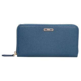 Fendi 'Crayons' Cobalt Leather Zip-around Wallet