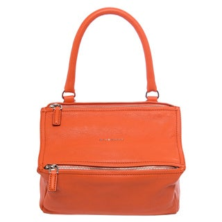 Givenchy Small 'Pandora' Orange Grainy Leather Messenger Bag