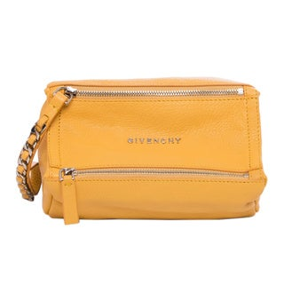 Givenchy 'Pandora' Yellow Grainy Leather Wristlet