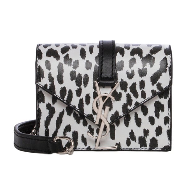 Saint Laurent 'Candy' Black and White Printed Monogram Bag
