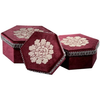 Hexagonal Traditional Storage Gift Boxes (Set of 3)