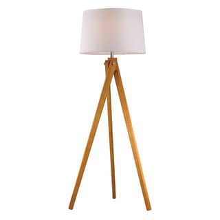 Dimond Wooden Tripod 1-light LED Natural Wood Tone Floor Lamp