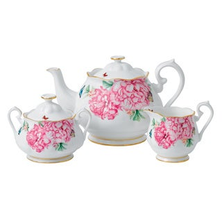 Miranda Kerr for Royal Albert Friendship Teapot, Sugar and Creamer 5-piece Set