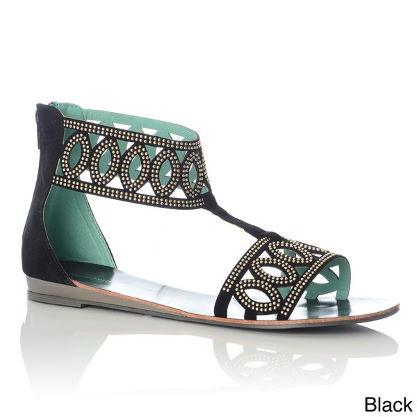 Henry Ferrera Women's Studded Cut-out Gladiator Sandals