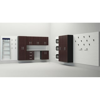 Flow Wall 12-piece Garage Espresso Cabinet System
