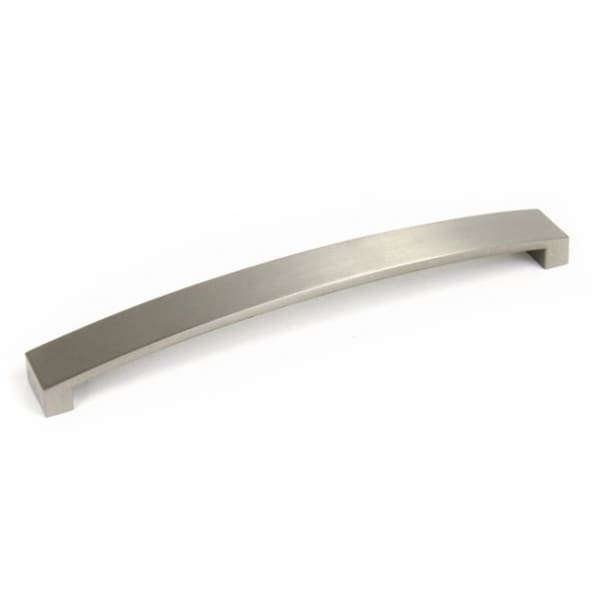Contemporary 9.25-inch Brushed Nickel Flat Arch Cabinet Bar Handle (Case of 5)
