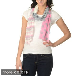 Identity by Magid Women's Tri-color Multimedia Lightweight Scarf
