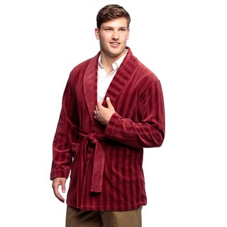 Men's Rouge Knit Velour Smoking Jacket