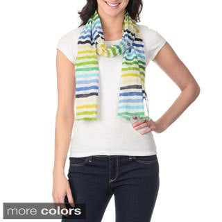Identity by Magid Women's Multicolor Stripes Lightweight Scarf