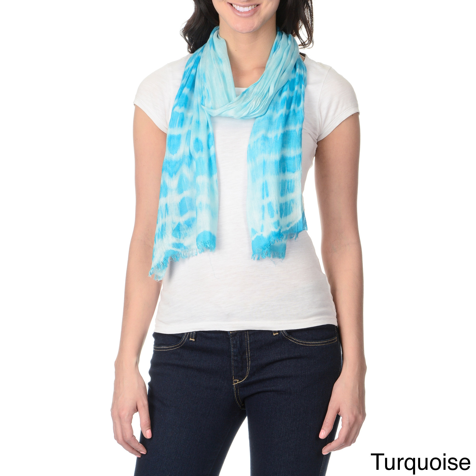 Overstock.com Identity by Magid Women's Tie-dye Print Lightweight Scarf at Sears.com