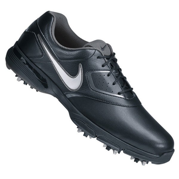 Nike Men's Heritage Black/Metallic Silver/Black/Metallic Dark Gray Golf Shoes