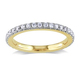 Miadora 14k Yellow Gold 1/4ct TDW Diamond Eternity Ring (G-H, SI1-SI2)