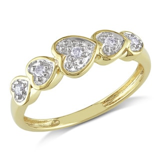 Haylee Jewels 10k Yellow Gold Diamond Accent Heart Ring