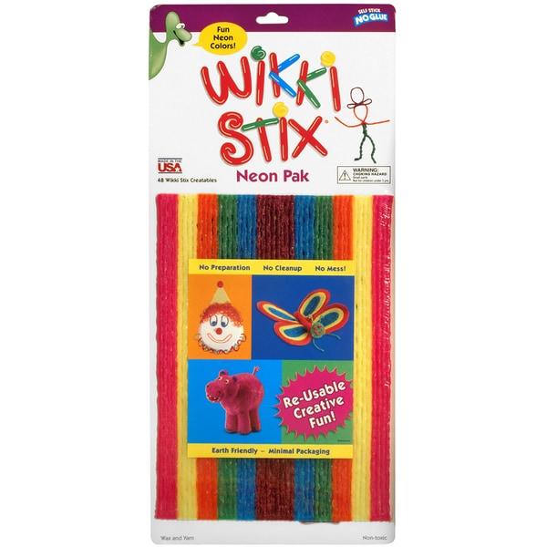 Wikki Stix Assorted Pkg-Neon