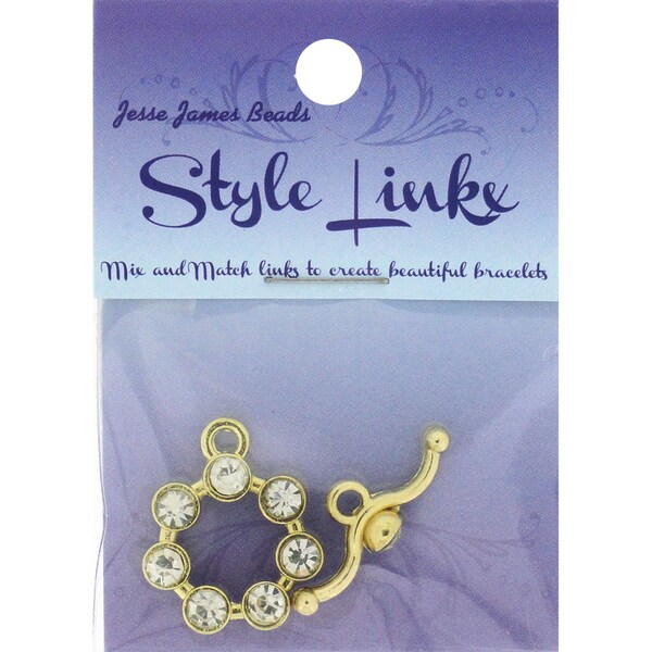 Style Linkx Toggle-Style 82 Toggle Crystal, Gold