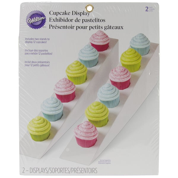 "Cupcake Display Triangle Stand 12""X10"" 2/Pkg-White"