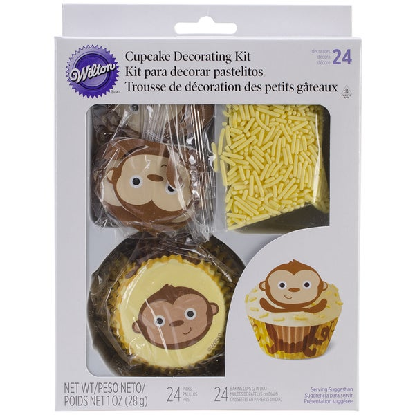 Cupcake Decorating Kit Makes 24-Monkey 12983970
