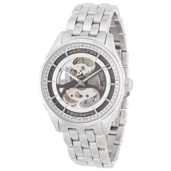 Hamilton Men's 'Skeleton Gent' Automatic Silvertone Watch