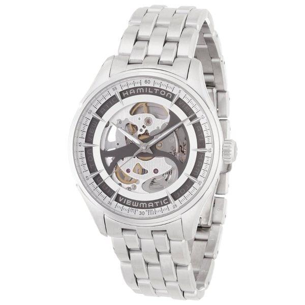 Hamilton Men's 'Skeleton Gent' Automatic Silvertone Watch