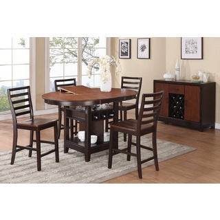 Treviso Oval 6-piece Counter Height Dining Set