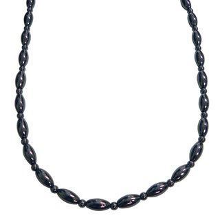 Magnetic Hematite Rice Bead Necklace