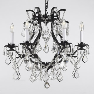Versailles Wrought Iron and Crystal 6-light Chandelier