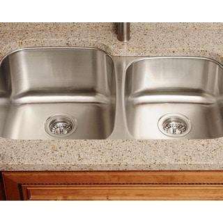 Polaris Sinks PL305-18 Offset Double Bowl Stainless Steel Sink