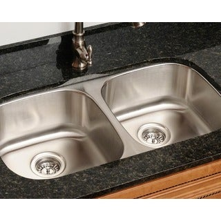 Polaris Sinks P205-18 Equal Double Bowl Stainless Steel Sink