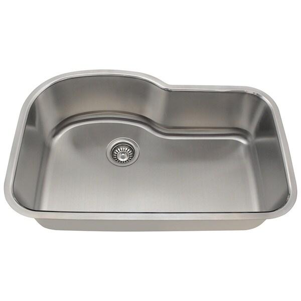 Polaris Sinks P643-16 Offset Single Bowl Stainless Steel Sink
