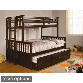 Legnano Twin Over Full Bunk Bed with Twin Trundle