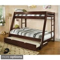 Vittoria Twin Over Full Bunk Bed with Dual Ladders