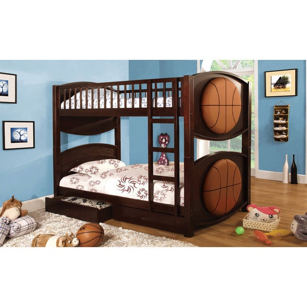 Avon Twin Over Twin Bunk Bed in Basketball Design
