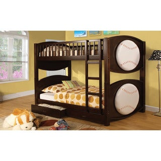 Kemi Twin Over Twin Bunk Bed with Baseball Design